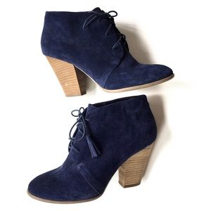 Sole Society Tallie suede ankle books Size 9.5